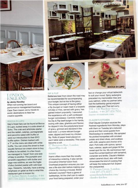 Food&Home article April 2014