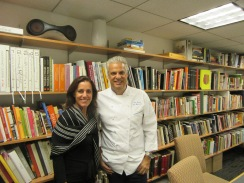 Jenny Handley and Chef Eric Ripert at Le Bernardin