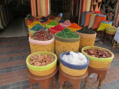 Selection of spices at the markets in Morocco
