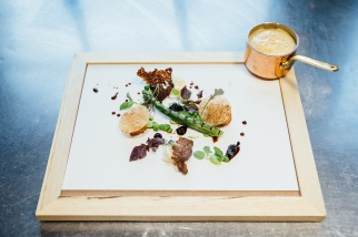 TTK Drought Menu - Pancetta beef sweetbreads, Asparagus, Morel mushroom and sherry glaze - photo Andy Lund (HR) 1
