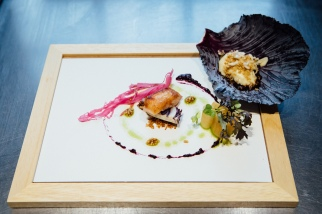 TTK Drought Menu - Pig head salad and pork pie - roasted pig head, smoked pink lady apples, pickled red cabbage - photo Andy Lund (HR) 1