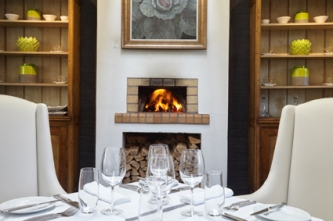 The Restaurant at Grande Provence with fireplace lr
