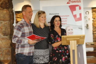 1 Luke Dale Roberts of The Test Kitchen, Martina Popkiss of Swiss International Air Lines, Jenny Handley of JHP Gourmet Guide